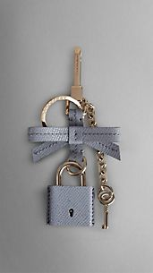 Patent London Leather Padlock Key Charm