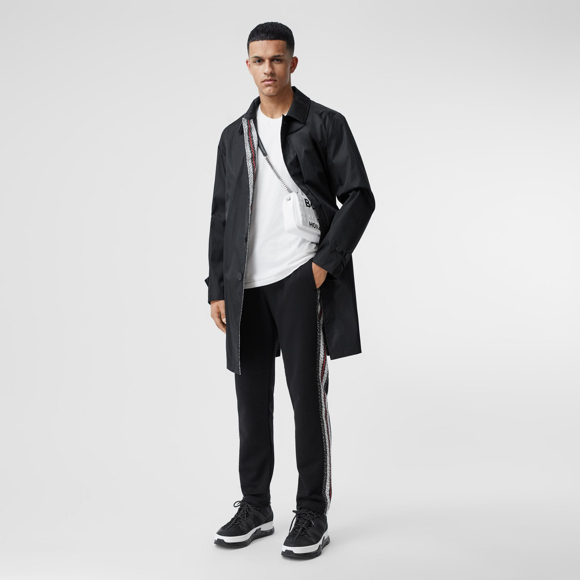 Technical Twill Car Coat in Black - Men | Burberry Canada - gallery image 0