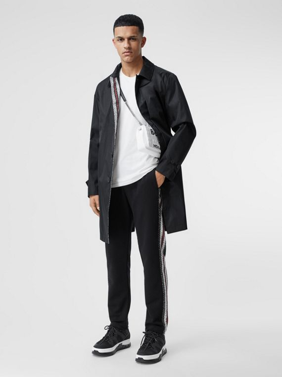 Technical Twill Car Coat in Black