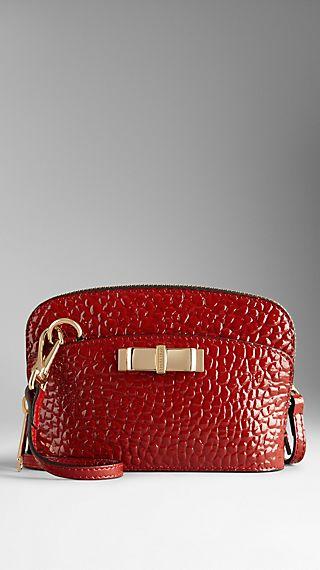 Mini Patent Heritage Grain Leather Crossbody Bag