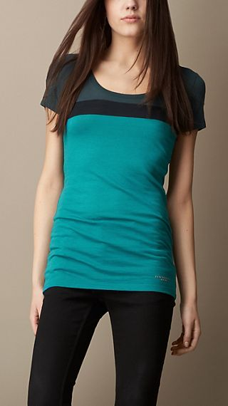 Colour Block Angora Blend T-Shirt
