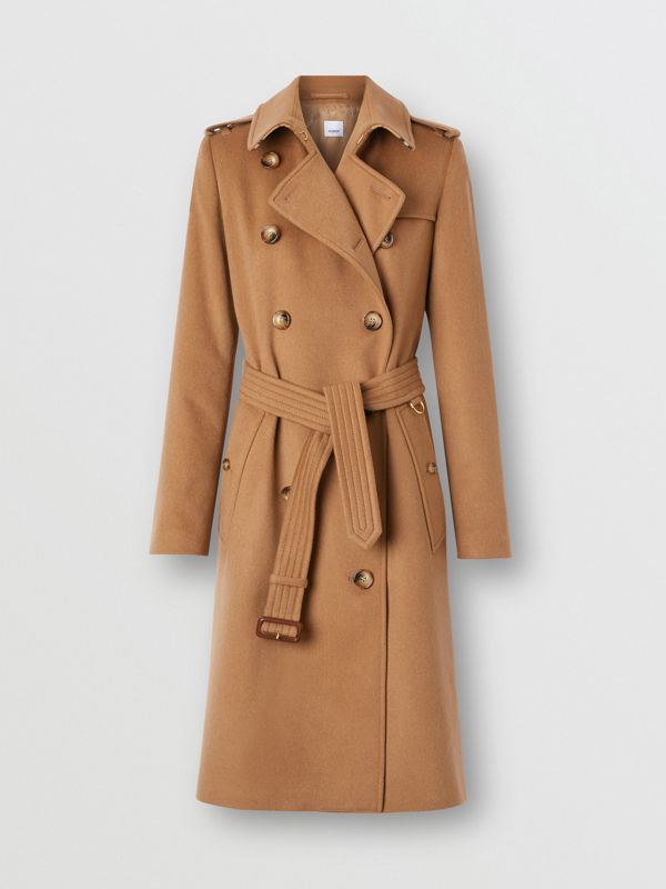 Regenerated Cashmere Trench Coat in Bronze - Women | Burberry - cell image 3