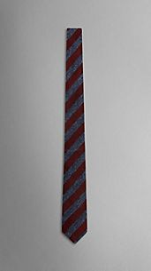 Striped Textured Handmade Silk Jacquard Tie