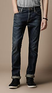 Swaine Stonewash Tapered Fit Jeans