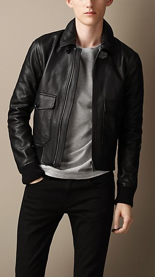 Grainy Leather Blouson