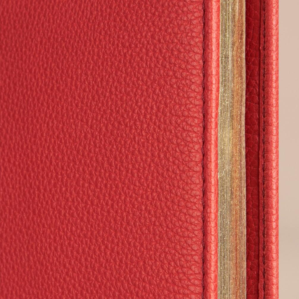 橘红色 粒面皮革 a4 笔记本 产品图片11