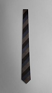 Striped Silk Jacquard Handmade Tie