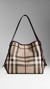 Bolso tote mediano de checks Smoked