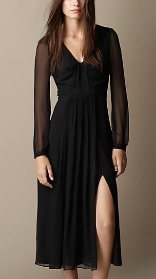 Silk Crépon Dress