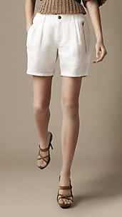 High Waisted Twill Shorts