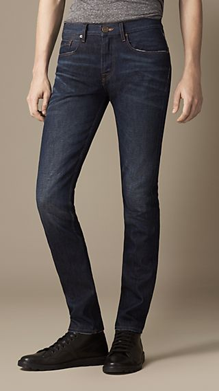 Shoreditch Resin Sprayed Skinny Fit Jeans