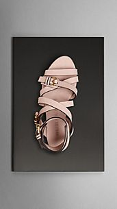 Buckle Detail Nubuck Gladiator Sandals