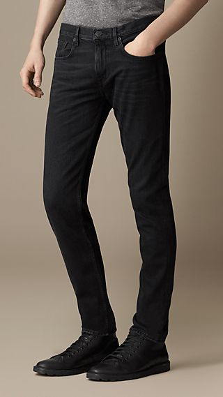 Shoreditch Black Hand-Sanded Skinny Fit Jeans