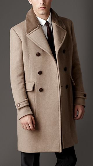 Mink Collar Cashmere Coat