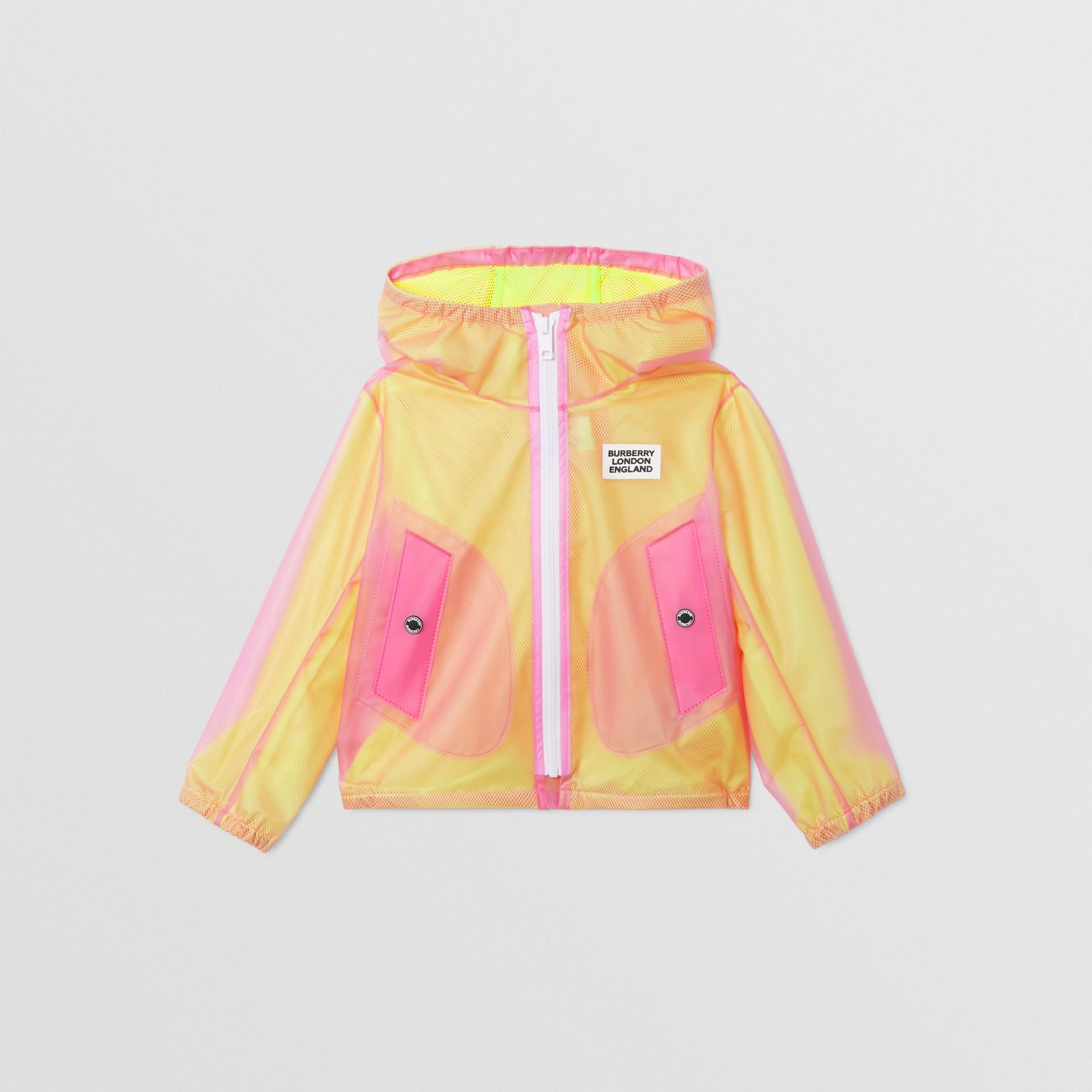 ロゴプリント ライトウェイト フーデッドジャケット (ラズベリーピンク)   バーバリー - ギャラリーイメージ 0