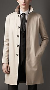 Cotton Gabardine Car Coat