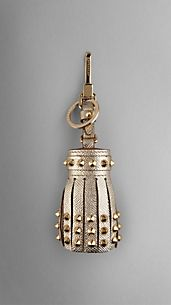 Studded London Leather Tassel Charm