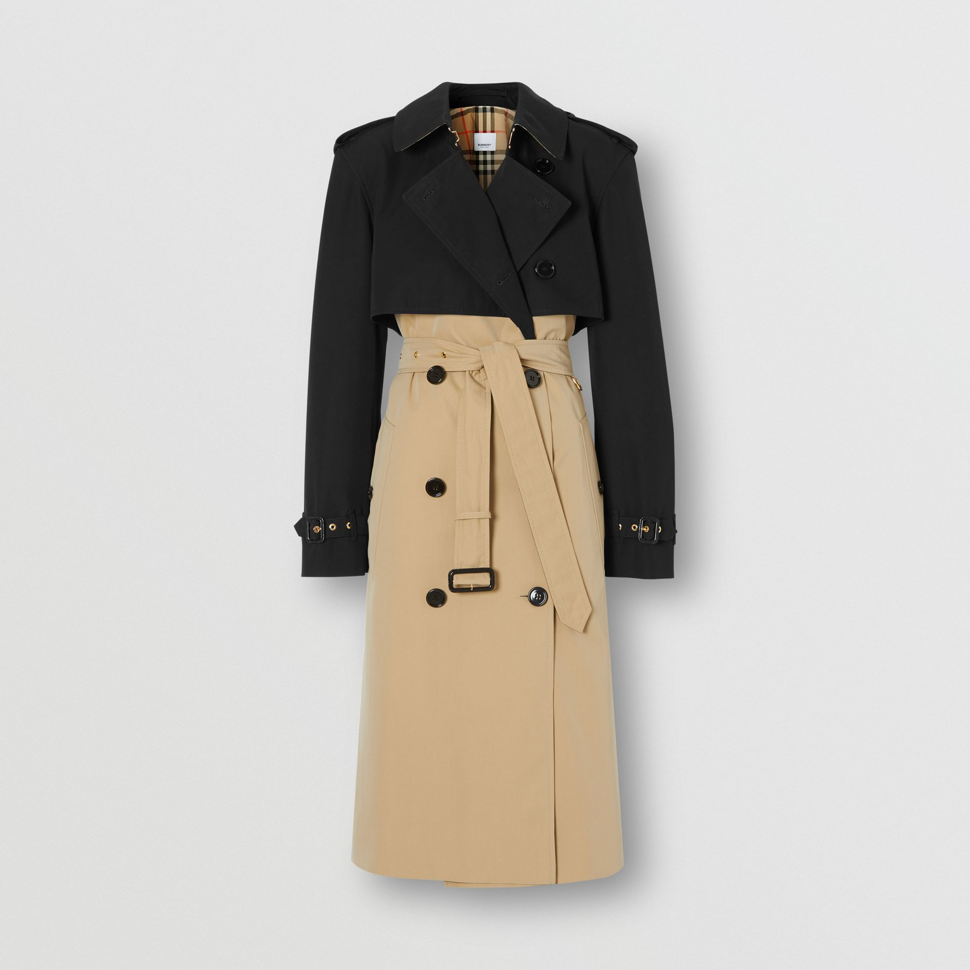 Two-tone Reconstructed Trench Coat in Black - Women | Burberry United Kingdom - gallery image 3