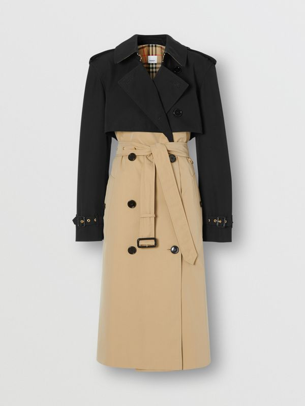 Two-tone Reconstructed Trench Coat in Black - Women | Burberry - cell image 3