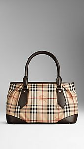 Grand sac tote en Haymarket Check