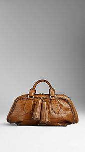Medium Alligator Brogue Bowling Bag