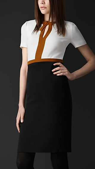 Colour Block Cut-Out Dress
