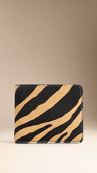 Striped Animal Print ID Wallet