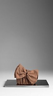 Ruched Silk Bow Belt