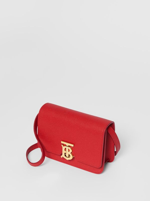 Mini Grainy Leather TB Bag in Bright Red - Women | Burberry - cell image 3