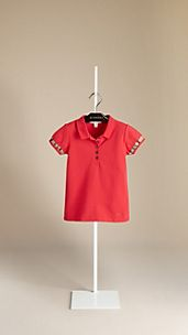 Check Trim Polo Shirt