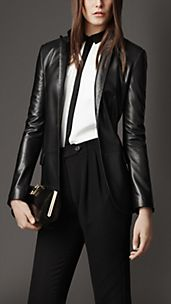Fitted Nappa Leather Jacket