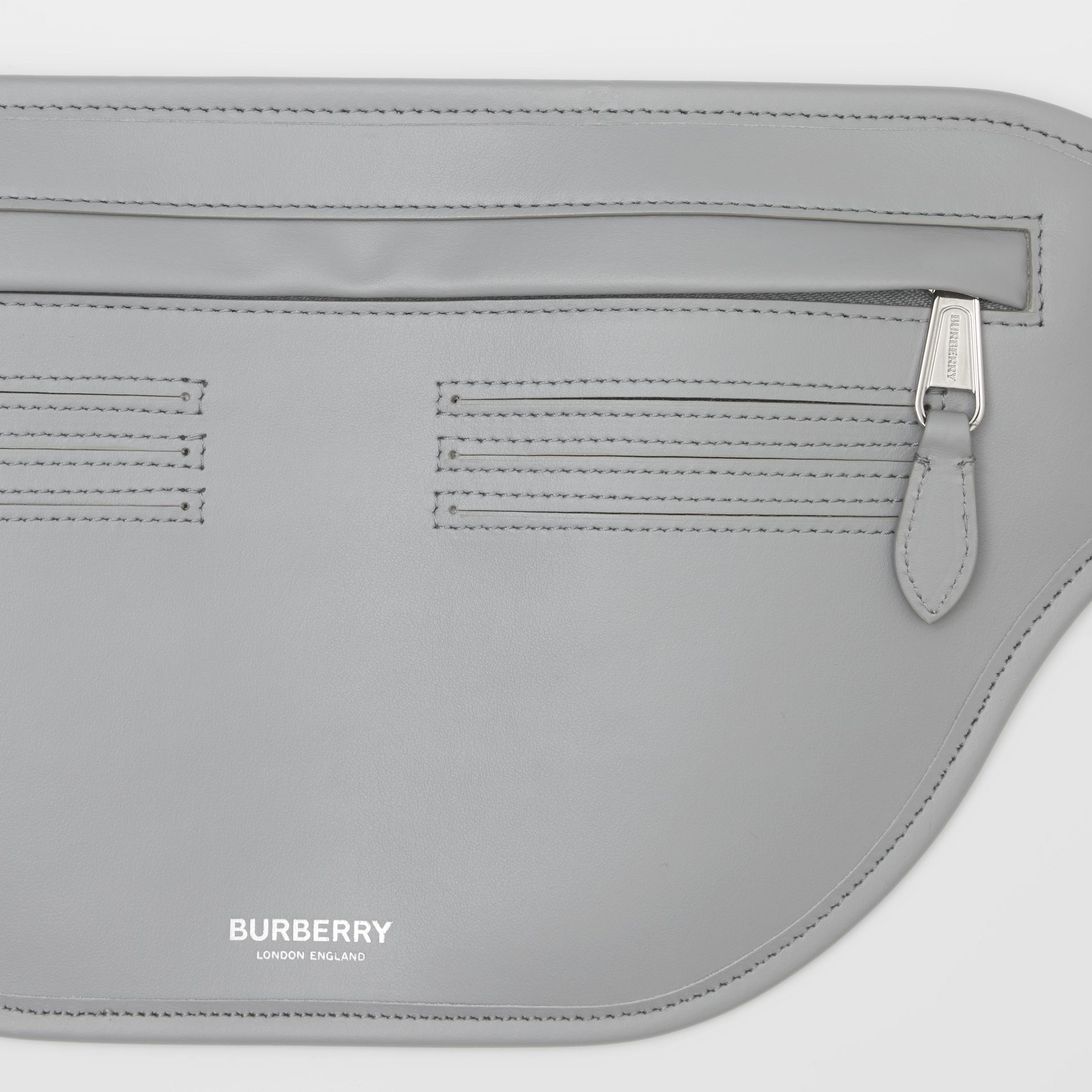 Leather Brummell Bum Bag in Cloud Grey | Burberry - gallery image 10