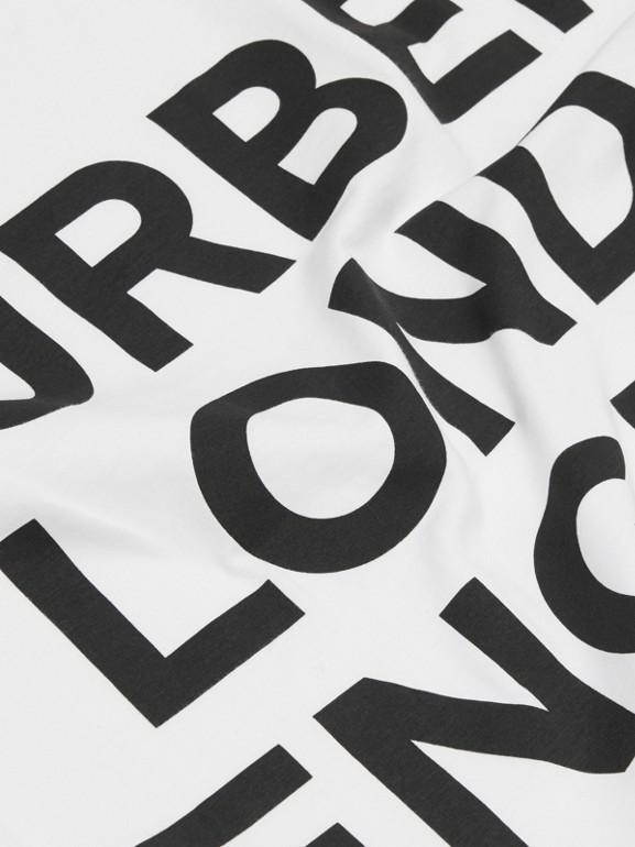 ロゴプリント オーガニックコットン ベイビーブランケット (ホワイト) - チルドレンズ | バーバリー - cell image 1