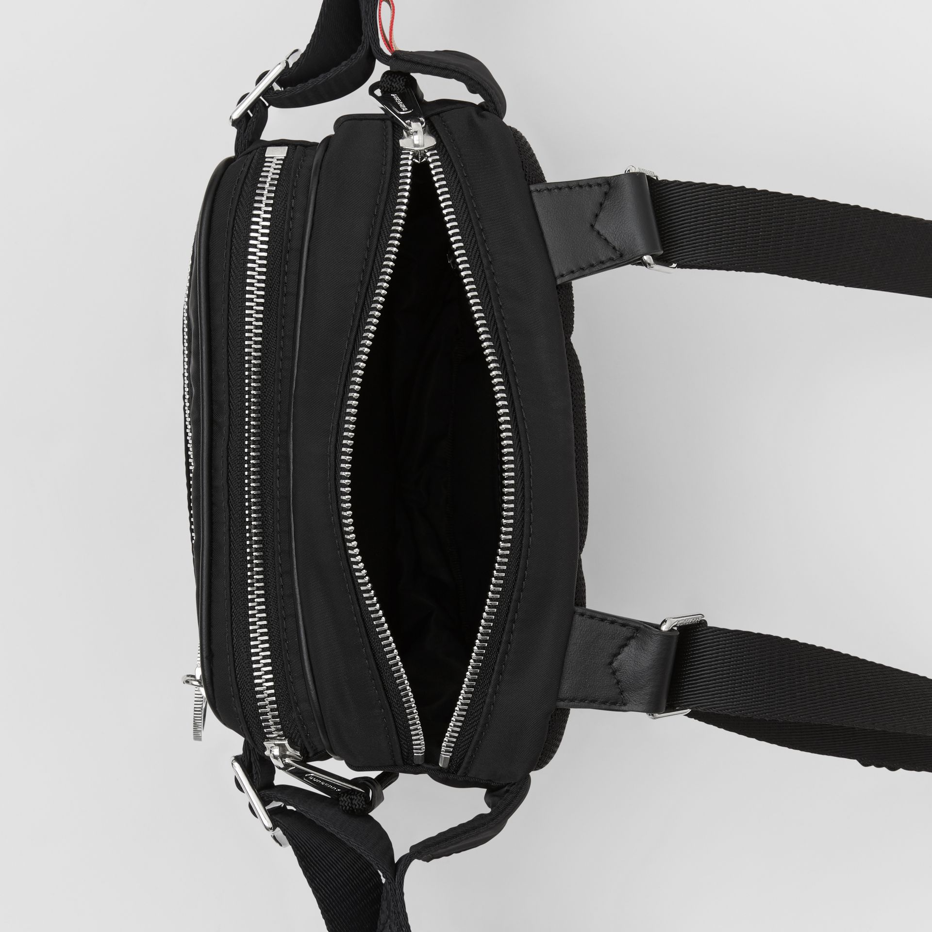 Logo Appliqué ECONYL® Cannon Belt Pack in Black | Burberry Canada - gallery image 5