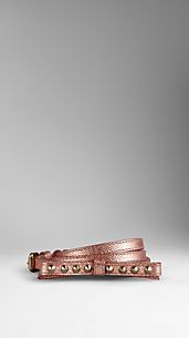 Double Buckle Metallic Bow Belt