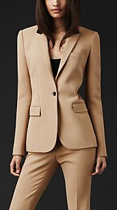 Contrast Collar Tailored Jacket
