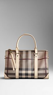 Small Smoked Check Saddlestitch Bowling Bag