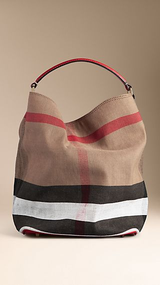 Medium Brit Check Hobo Bag