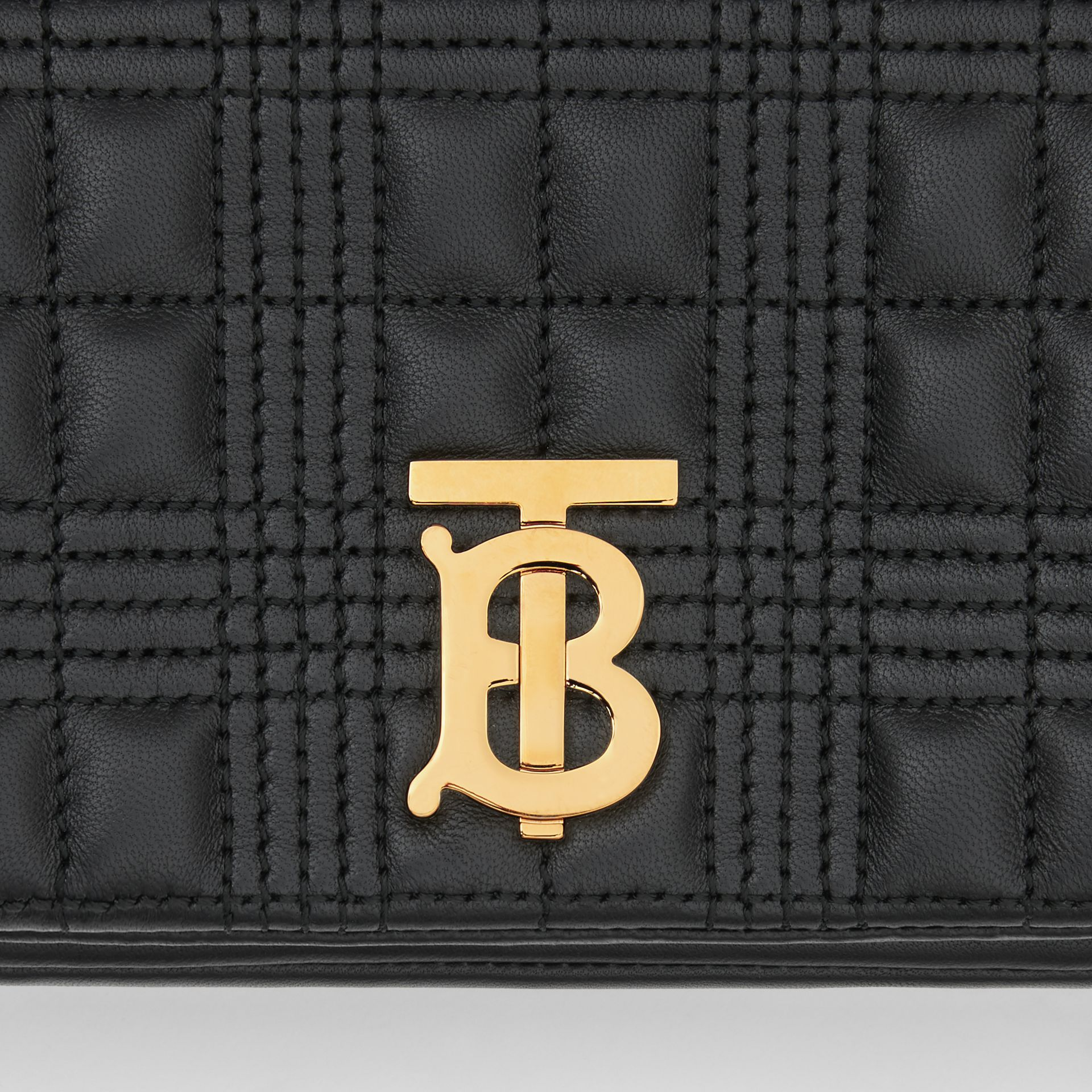 Quilted Lambskin Lola Bum Bag in Black - Women | Burberry United Kingdom - gallery image 1