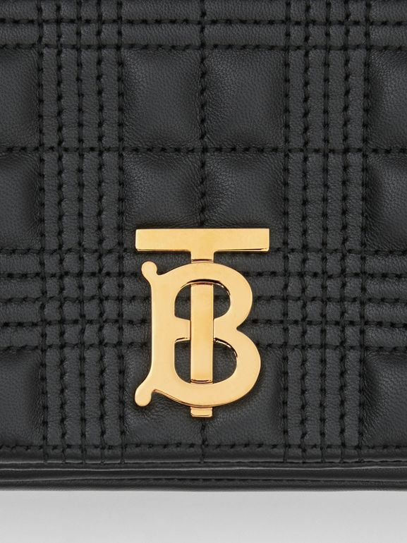Quilted Lambskin Lola Bum Bag in Black - Women | Burberry United Kingdom - cell image 1