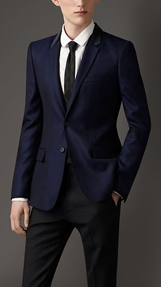 Slim Fit Hopsack Wool Jacket