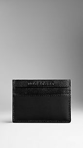 London Leather and Nylon Card Case