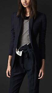 Boyfriend Fit Silk Linen Jacket