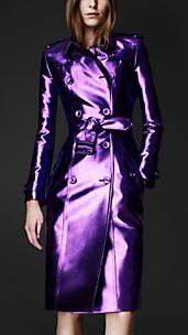 Metallic Trench Coat