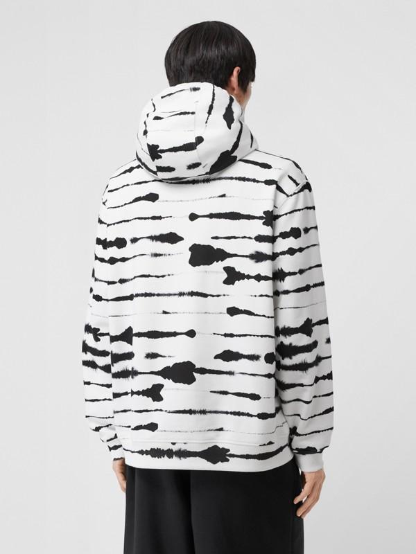 Suéter com capuz com estampa de aquarela e logotipo (Monocromático) | Burberry - cell image 2
