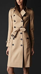 Double Cotton Trench Coat