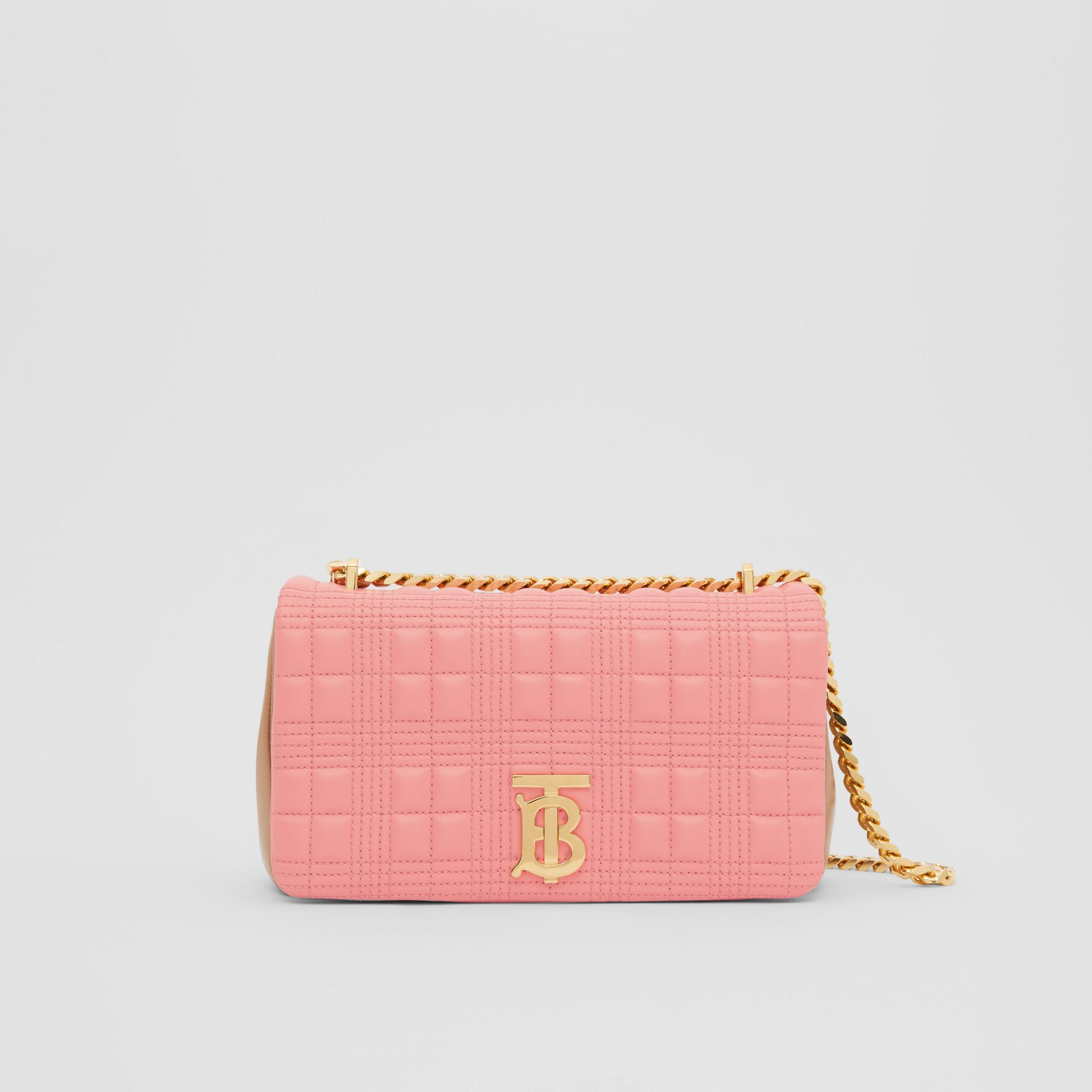 Small Quilted Two-tone Lambskin Lola Bag in Peony/camel - Women | Burberry - gallery image 0
