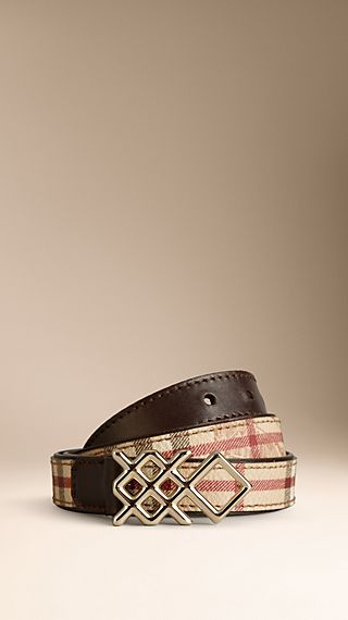 Haymarket Check Belt With Check Buckle