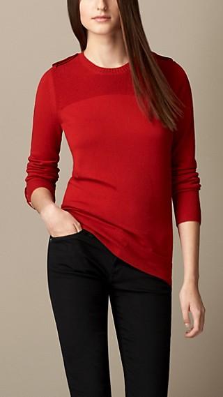 Rib Detail Merino Wool Sweater