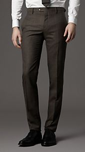 Slim Fit Virgin Wool Trousers